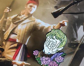 Poet Boy Jehan soft enamel pin | Les Misérables pins