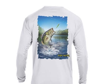 FISH NATION-High Performance-Youth Dri Fit Upf 50 Fishing Shirt