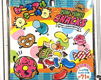 Mind Wave Yum-Yum Snacks sticker sack - kawaii sticker sack - sticker flakes