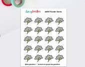 Thunderstorm stickers   Stormy weather stickers   weather stickers   doodle stickers   cute stickers   (DD350)
