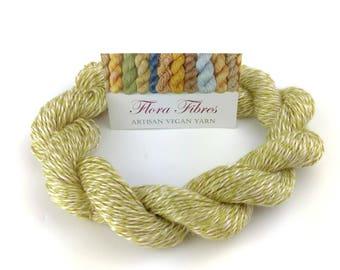 "Hand spun naturally dyed vegan bamboo fingering weight yarn ""Spring Blossoms"" for knitting crochet weaving UK"