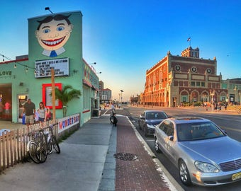 Wonder Bar with Tillie Face - Asbury Park, New Jersey - Aerial Photography, Photography Print, Pictures, Wall Art