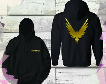 Gold Maverick Bird Kid youth Size Team 10 Official Hoodie Unisex Team 10 Jake Paul JP best price Inspired by Log Youtuber celebrity youtube