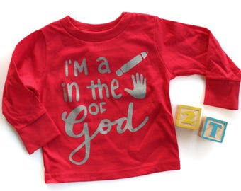 Pencil in the Hand of God long sleeve Toddler Shirt