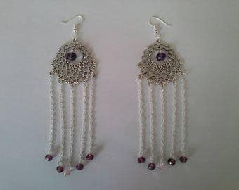Earrings ethnic chic necklace glass beads
