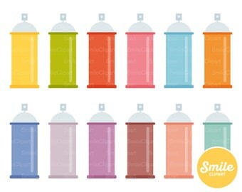 Spray Can Clipart Illustration for Commercial Use | 0253