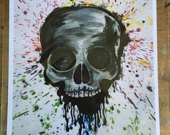 Skull Splatter Print