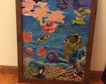 Jelly Fish painting- original