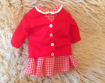 "American Girl doll dress and coat, fits 18""dolls"