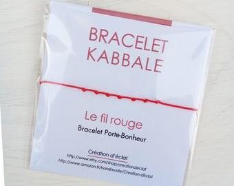 Kabbalah bracelet / kabbalah bracelet / red thread 7 knots - Creation of sparkle