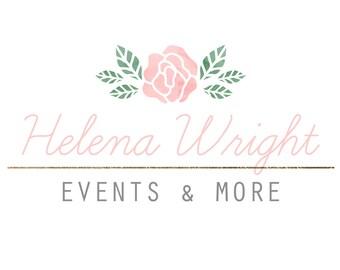 Premade logo, Watercolor logo, Blog logo, Blog header, Personalized Logo, Header, Watercolor header, Custom Logo, Logo design, Floral