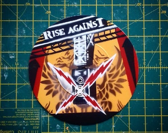 """Rise Against - Siren Song of the Counter Culture - Custom 7"""" EP Stencil Art"""