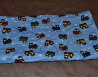 Burp Cloth with Trains