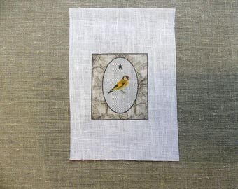 fabric sewing bird in Locket