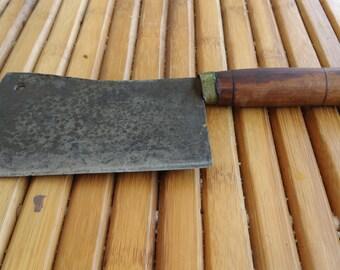 old butcher meat cutter - chopper - butcher's leaf - old butcher's tool
