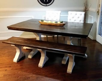 7ft. Farmhouse Dining Table and Bench set