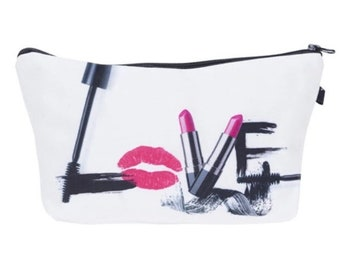 Love Cosmetics Makeup Brush Holder-Makeup Organizer-Gift for Her-Makeup Bag-Makeup Storage-Large Makeup Bag-Makeup Travel Bag-Makeup Case