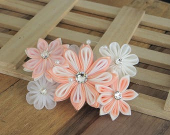 Hair Accessories- Hair Clips- Hair Piece- Kanzashi Flower- Kanzashi- Tsumami Kanzashi- Women's Hair Accessories- Wedding- Bridal