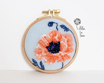 "Embroidery Kit ""Sweet poppy"" - Embroidery Kit ""SWEET POPPY"""