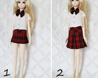 BJD, MSD, Doll outfit, Doll clothes, school girl uniform