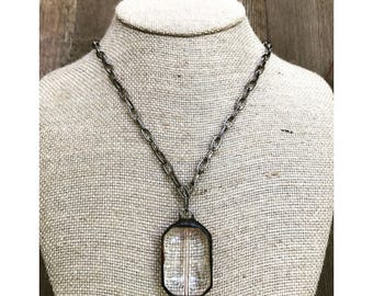 Soldered Crystal Necklace