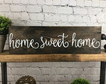 Home Sweet Home Sign, Reclaimed Wood Sign, Rustic Home Decor, Country Sign, Wall Hanging, Rustic Wall Sign, Reclaimed Wood, Entry Way Decor