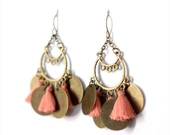 Earrings pendants and tassels