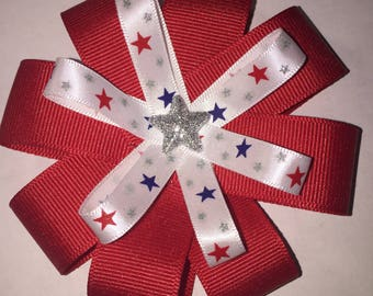 Forth of July hair bow