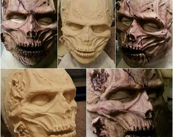 Latex zombie mask painted or unpainted