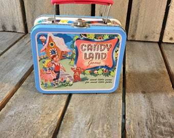 Vintage Candyland Small Lunch Box, Candyland Lunch Box, Vintage Lunchbox, Vintage Lunch Box