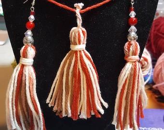 Earring & necklace tassel earring