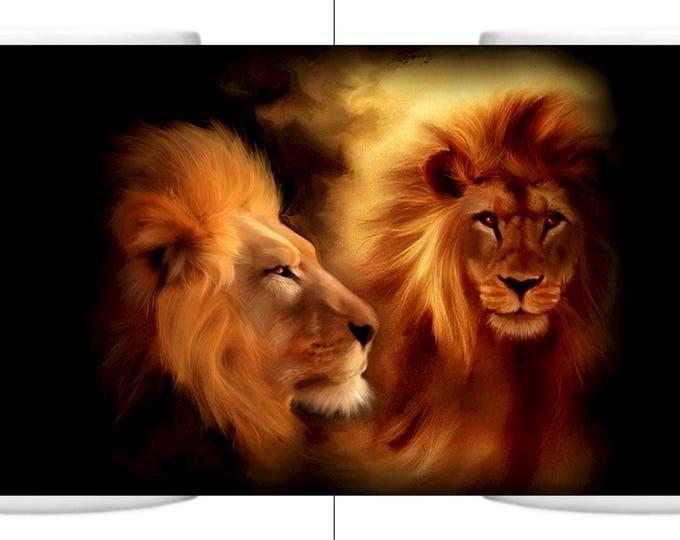 Colour Change Mug Beautiful Lions
