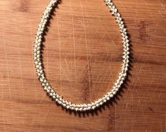 Ivory gold dangle choker