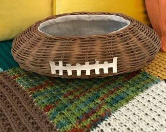 Wicker Football Planter