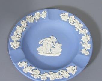 Vintage Wedgwood, Jasperware, Pin Tray, Ring Dish, Trinket Dish, Sweet Dish, Ashtray, Blue And White, Wedgwood, Jasper Ware, Free UK Postage