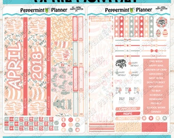Happy Easter Monthly Kit --- April Monthly --- Will fit in the Erin Condren Planner --- EC Monthly 02