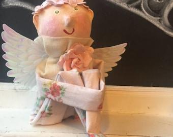 Vintage Inspired Valentine Cupid Doll