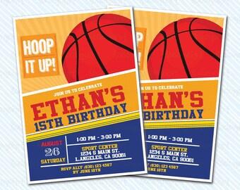 Digital Printable Basketball Birthday Invitation. Man Birthday. Boy Birthday
