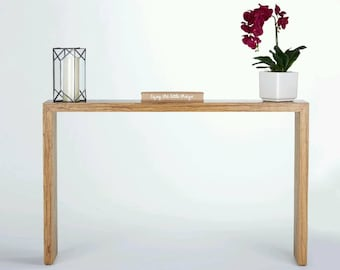 Narrow console table Etsy