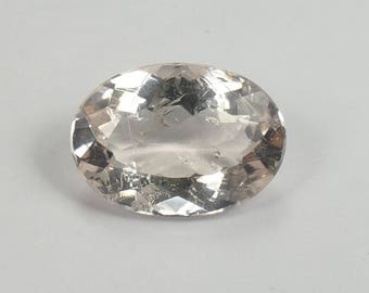 Video ! 13.4x9.5mm Very nice full natural peach Morganite from Brazil 4,08ct oval pink beryl loose gemstone for ring pendant (#PB825)