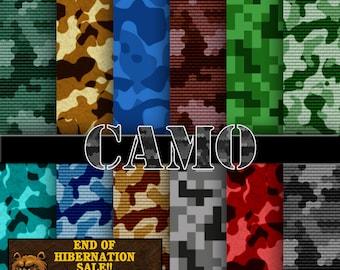 camo digital paper, camo digital scrapbook, camo background, camo scrapbooking paper