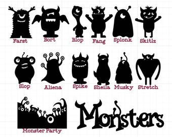 monster window clings halloween window clings reusable window clings monsters halloween - Halloween Window Clings