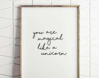 80% OFF typography unicorn wall art, typography wall decor, unicorn wall art, unicorn decor, unicorn prints, unicorn download
