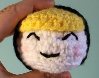 Crochet Sushi Wrap - Nigiri - Maki - Play food - Educational toys- preschool - learning - food - sushi - toys- knitted food - crocheted food