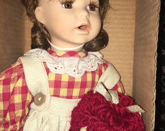 Vintage Collectible Doll with Raggedy Ann Doll