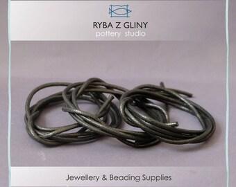 Black Cotton Wax Cord, 1 Yards, 0.95 m, 2.5mm - Black Round, Round Cotton Wax Cords