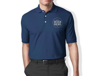 Custom Embroidered Men's Polo Shirt, Embroider your logo on Polo Shirts,  Personalize Polo T-shirt,  Branding t-shirts,