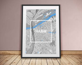 Hamm-framed City-digital printing