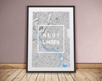 Reutlingen-Framed City-digital printing