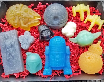 STAR WARS Soap Gift Set / Choose Your Side...Complete Saga, Team R2 or Team Vader? / Vegan / Gluten Free / Organic / Oh So Cool!
